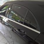 Sonnenschutzfolien an hinteren Fahrzeugfenstern