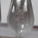 Sektglas graviert für eine Hochzeit