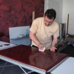 Küche Cocooning bei der Bearbeitung
