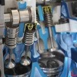 Zylinder im Motor in Nahaufnahme