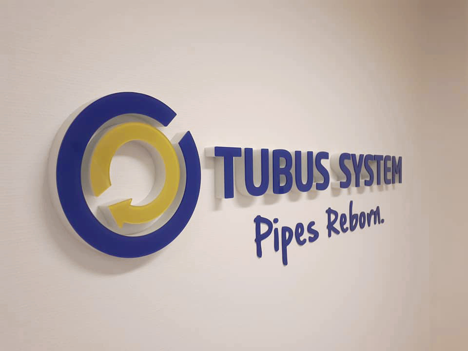 Tubus System 3D logo Wand