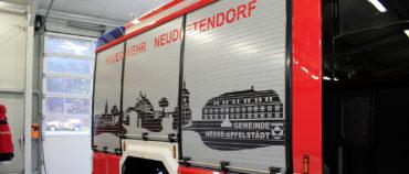 Rollläden des Einsatzfahrzeugs der Feuerwehr Neudietendorf