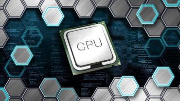 CPU Prozessor vor einer code-Struktur