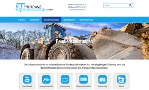 Webseite erdtrans.de
