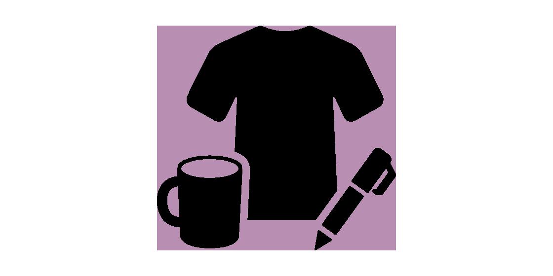 Icon Symbol für Werbeartikel, Shirts, Tassen, Kugelschreiber