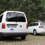 Klaus Köhler Beton Logos an Betriebsfahrzeugen