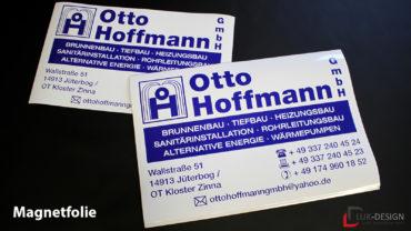 Magnetfolie rechteckig für Otto Hoffmann
