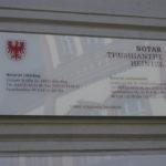Eingangsschild Notar Thushianthe Heintze Luckenwalde