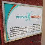 Eingangsschild Physiotherapie Neuhaus Luckenwalde