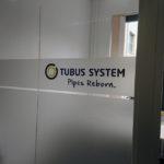Milchglasfolie bei Tubus System